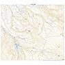 614006 雲谷 (もや Moya), 地形図