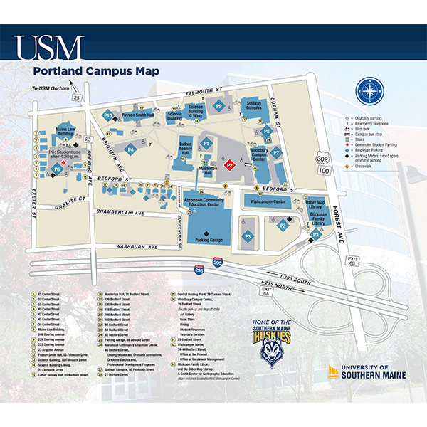 USM Portland Campus Map   Avenza Systems Inc.   Avenza Maps