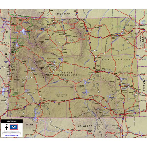 Wyoming Highway Map - World Sites Atlas - Avenza Maps